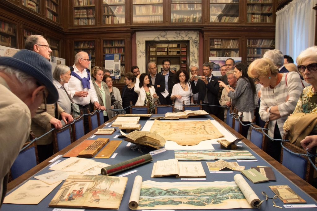visit of the exhibition at the Society